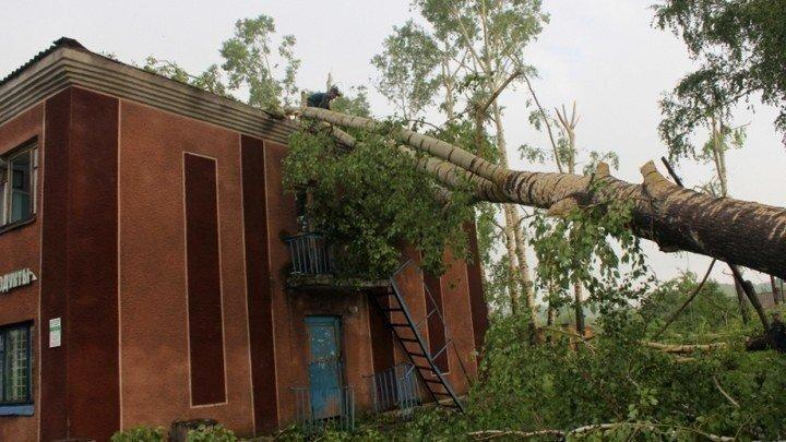 Новый удар стихии. Последствия ночного урагана устраняют в Целинном районе