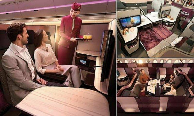 """Авиакомпания Quatar Airways предлагает пассажирам воздушный """"люкс"""""""