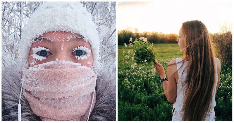 Девушка с замерзшими ресницами показала новую якутскую боль