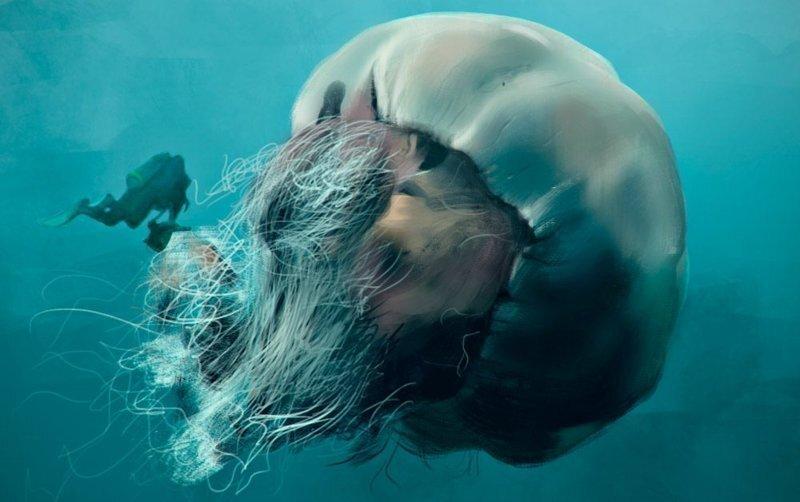 Гигантская медуза Номура