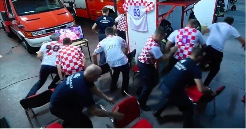 Работа превыше всего: хорватские пожарные бросились на вызов во время решающего пенальти своей сборной