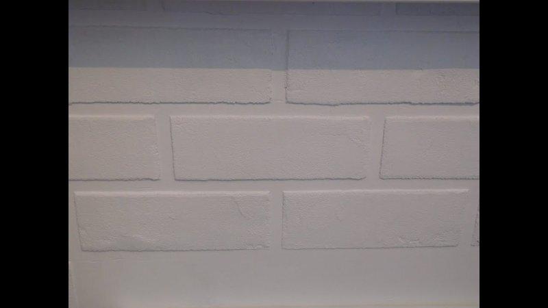 Имитация кирпичной кладки (стены). Ремонт на кухне