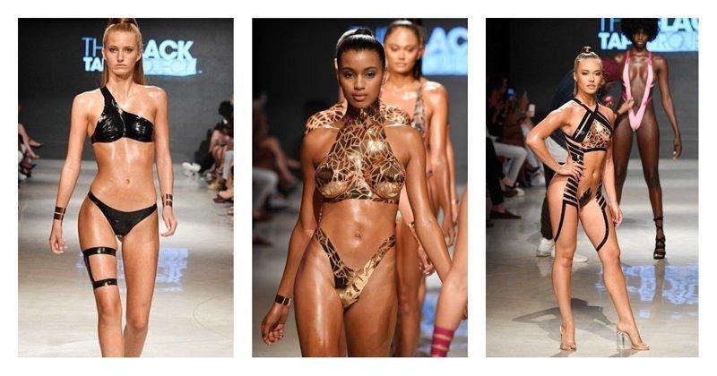 Налепил - и в море! В Майами показали новую пляжную одежду из скотча и изоленты