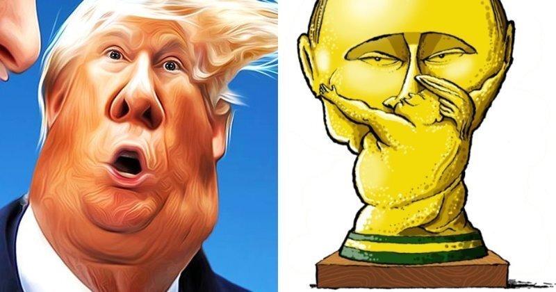 Тотальная ошибка и открытая измена: Саммит Путин-Трамп в зарубежных СМИ и карикатурах