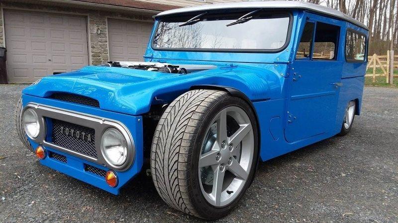 Land Cruiser из 60-х превратили в хот-род с двигателем V12 от BMW