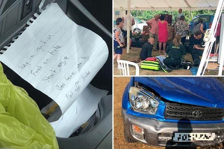 Пожилая женщина, управлявшая машиной по бумажке, протаранила шатёр с людьми