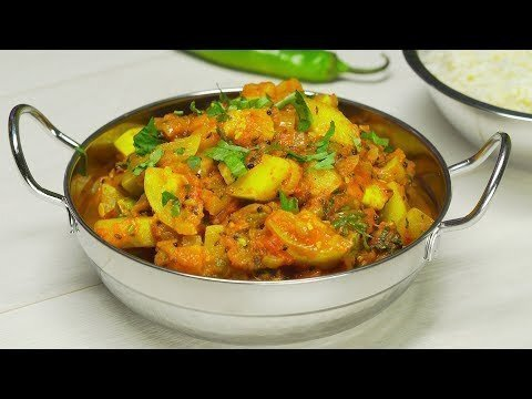 Жареные кабачки карри. Индийская кухня