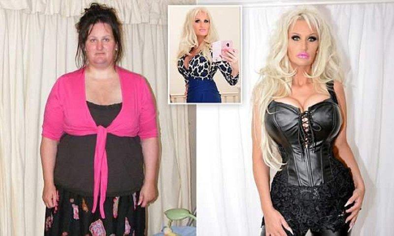 Чтобы стать похожей на Барби, англичанка похудела вдвое
