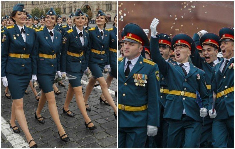 На Красной площади вручили дипломы молодым МЧСникам