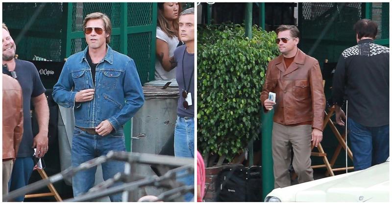 Брэд Питт и Леонардо Ди Каприо встретились на съемках нового фильма Квентина Тарантино