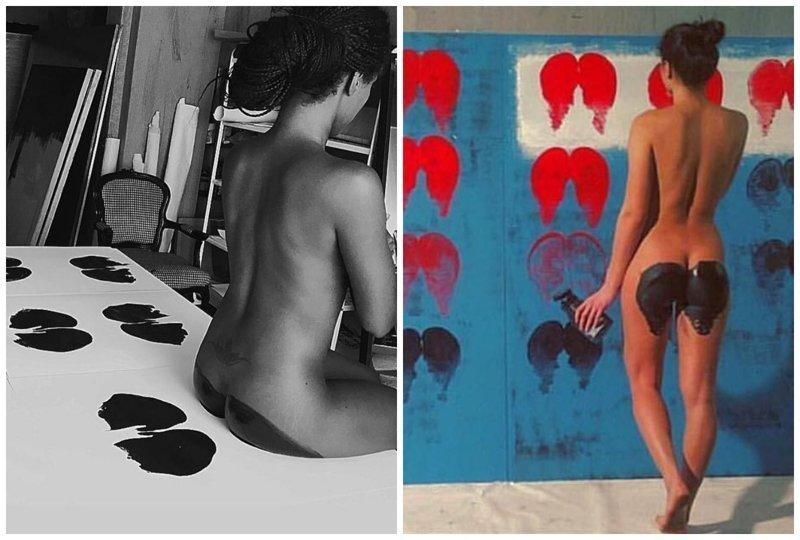 Голопопое искусство: художник использует женское тело для создания картин