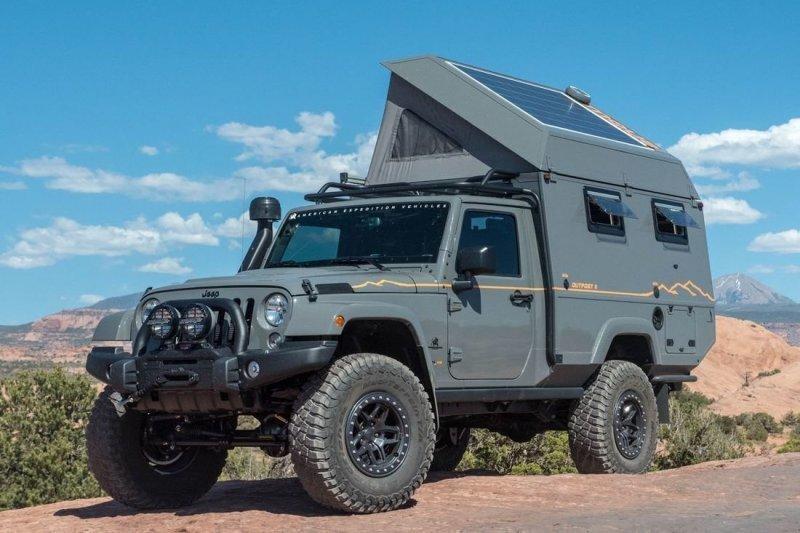Дом на колесах повышенной проходимости из внедорожника Jeep Wrangler