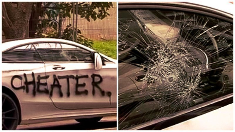Машинку жалко: разъяренная изменой девушка надругалась над автомобилем обидчика