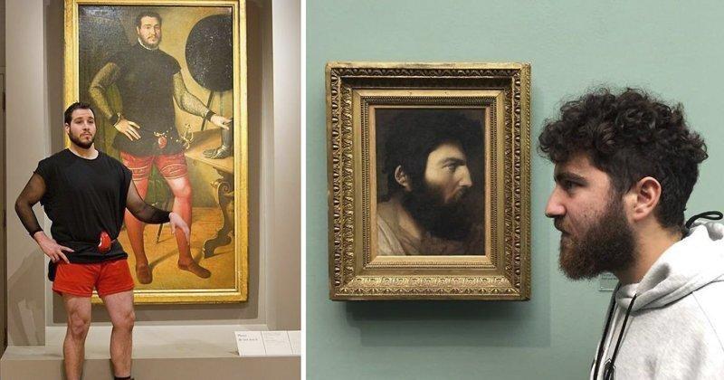 20 человек, которые случайно нашли свои портреты в музее