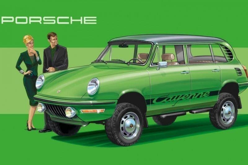 Как выглядели бы современные модели автомобилей, если бы их выпускали в прошлом?