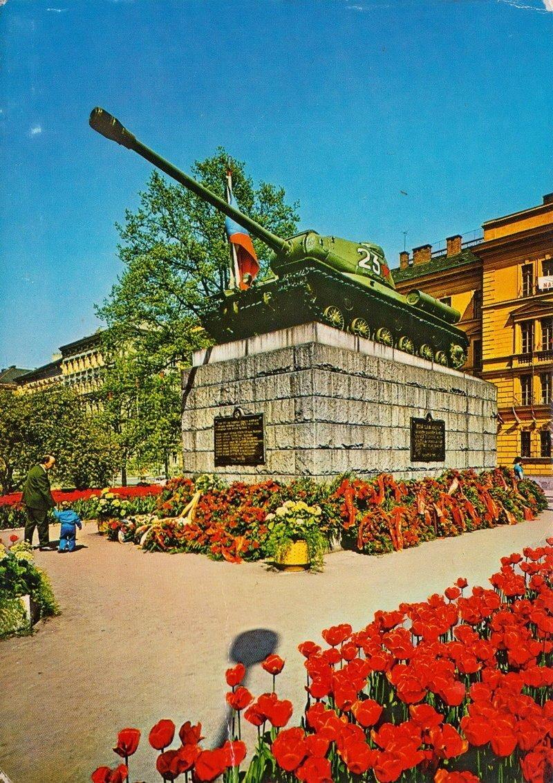 История танка-памятника в Праге