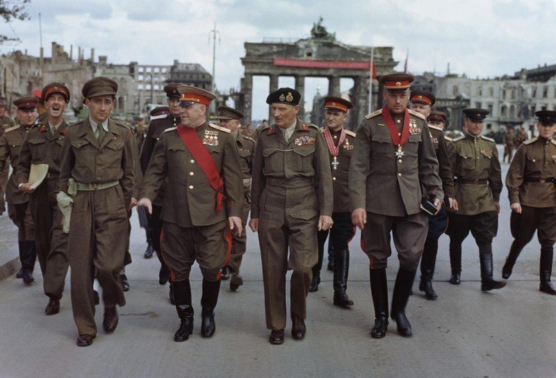 Парад Победы в Берлине 7 сентября 1945 года
