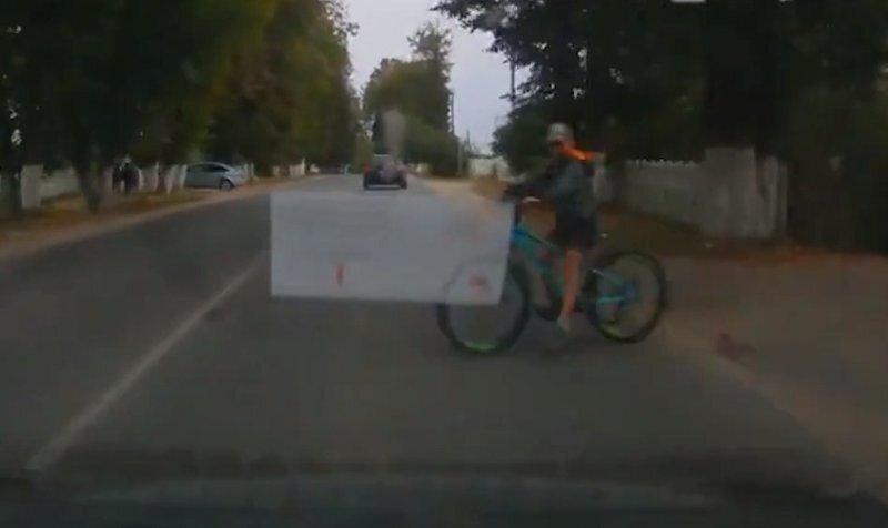 Реакция водителя спасла велосипедиста