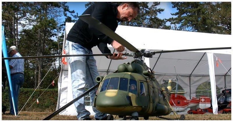 Модель вертолета Ми-8 для больших мальчиков