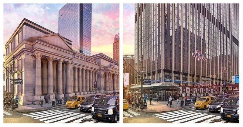 Тогда и сейчас: 7 легендарных зданий, потерянных Америкой безвозвратно