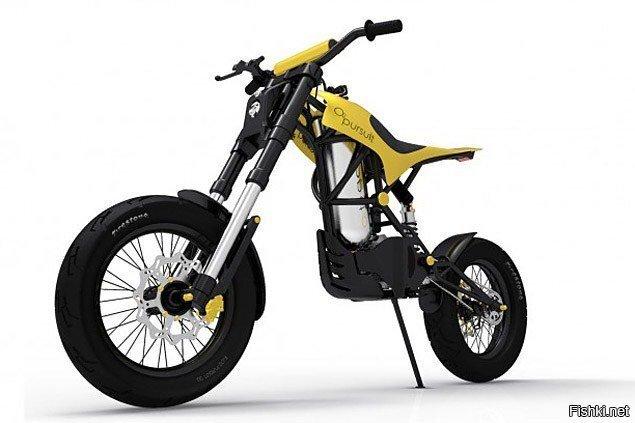 мотоцикл - на сжатом воздухе