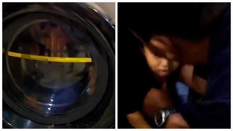 Шутка не удалась: 4-летний мальчик застрял в стиральной машине
