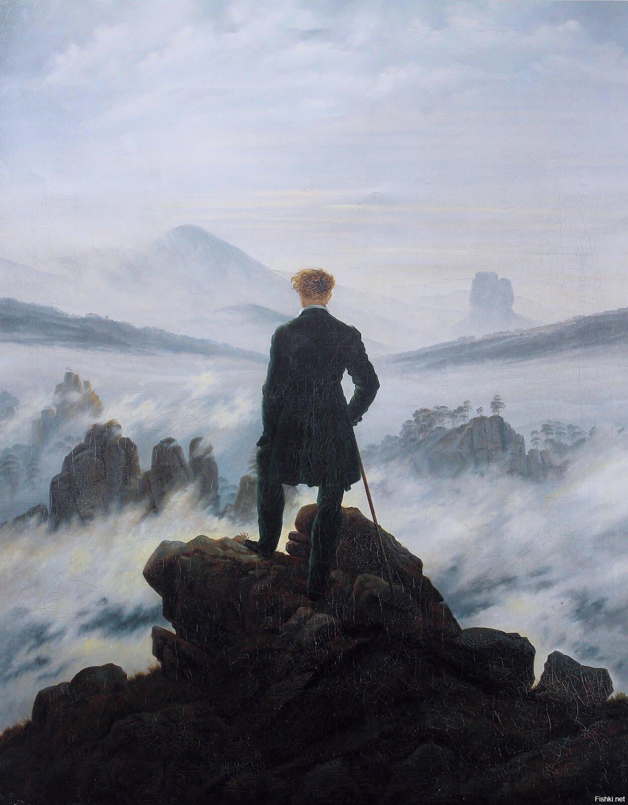 """Странник над морем тумана"""", Каспар Давид Фридрих"""