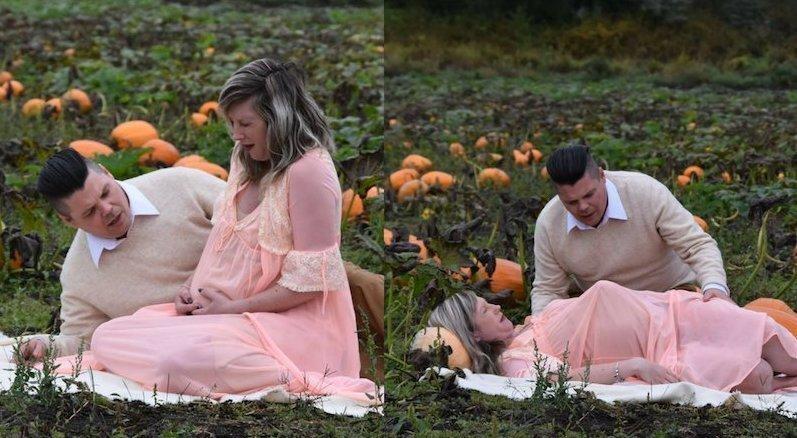 Пара устроила кровавую фотосессию для беременных в стиле «Чужого»