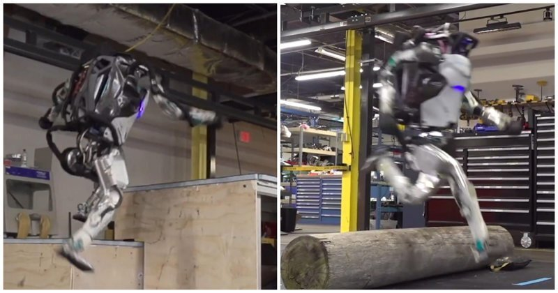 Робота Boston Dynamics научили паркуру