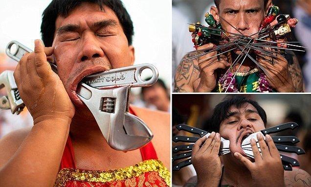 Фестиваль Вегетарианцев на Пхукете: экстремальный пирсинг и другие традиции