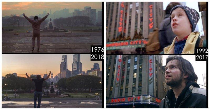 Парень показывает, как изменились места съемок известных фильмов спустя годы
