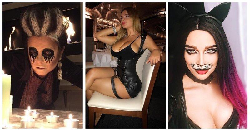 Российские знаменитости, которые одеваются на Хеллоуин в нечисть