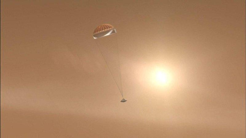 NASA провела испытания парашюта для посадки на Марс