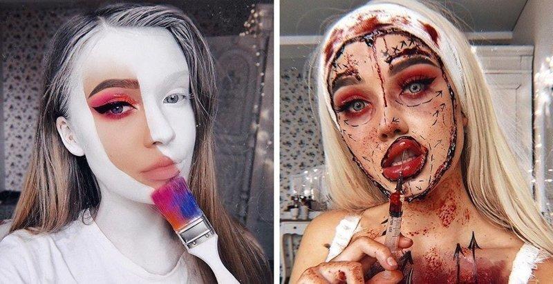 Визажист из Литвы делает макияж, с которым на Хэллоуине любая будет звездой вечеринки