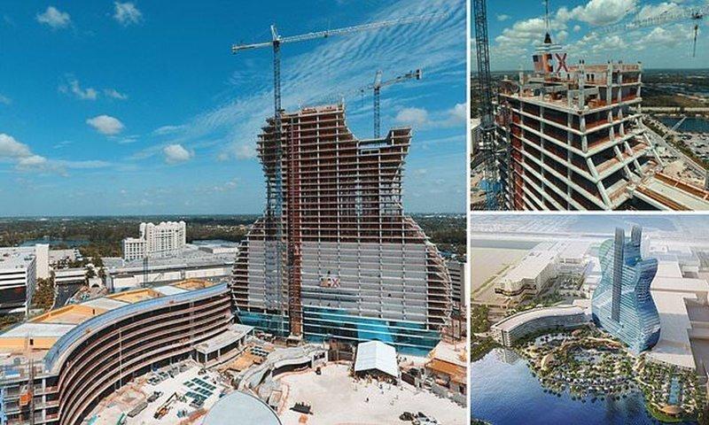 Во Флориде строят отель в виде рок-гитары