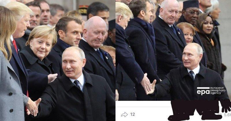 Путин приехал в Париж и стал героем мемов
