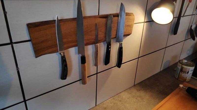 Делаем магнитную доску для кухонных ножей своими руками