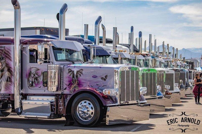 Тюнингованные грузовики Peterbilt, от которых дух захватывает