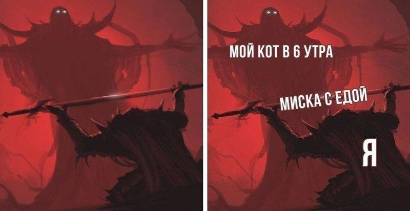 Мем про повелителя и подданного с мечом научит вас проявлять уважение