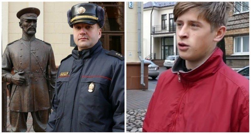 Белорусского подростка заставили извиниться перед памятником за пощёчину