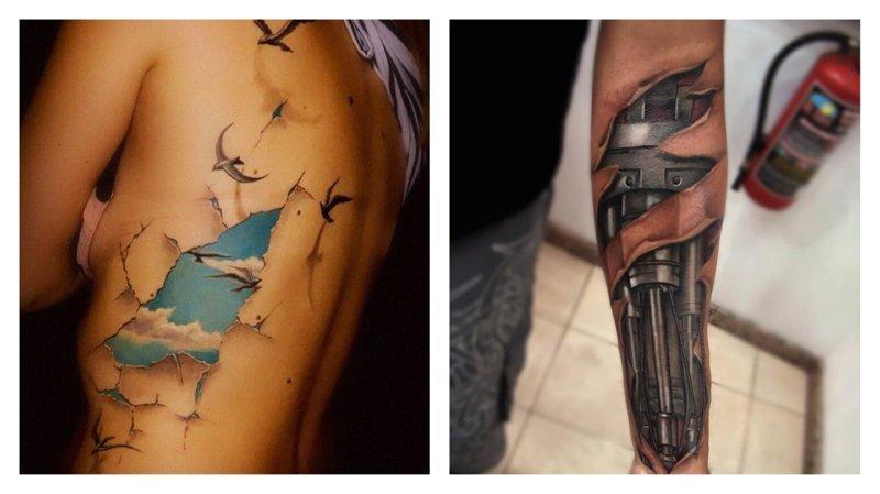 Убедительные 3D-татуировки: слишком совершенны, чтобы быть реальными