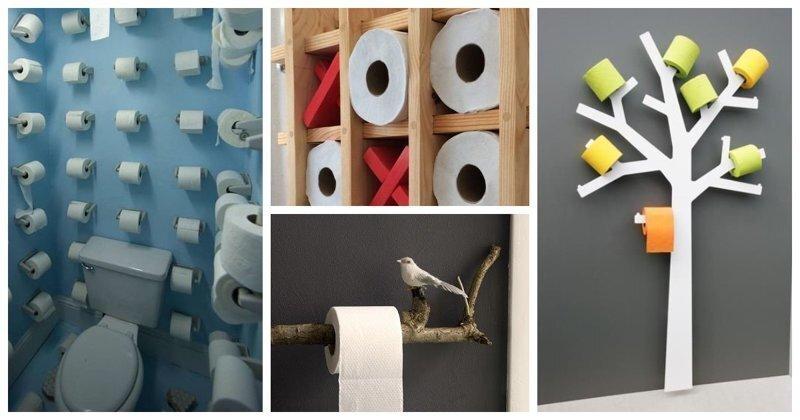 Как и где хранить туалетную бумагу: 20+ идей оригинальных держателей