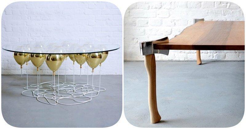 6 обеденных столов с уникальным дизайном, которые бросают вызов законам физики