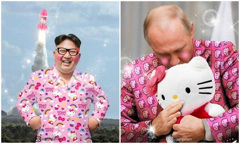 Если бы мировые лидеры были фанатами Hello Kitty: придумка мастера фотошопа
