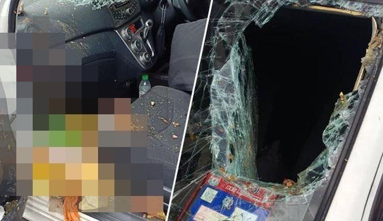 Мусорный пакет с верхнего этажа пробил лобовое стекло автомобиля