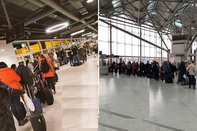 Лоукостер Ryanair выстроил пассажиров в огромные очереди