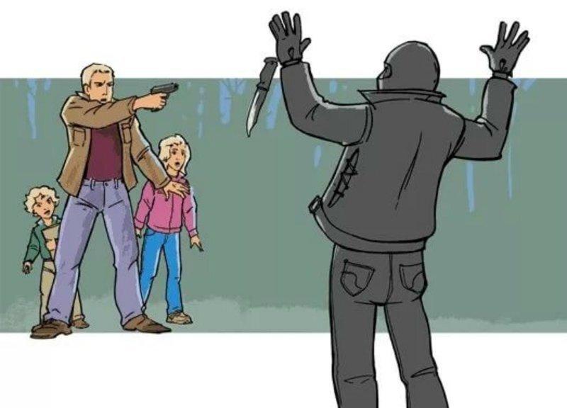 Наказание за самооборону с оружием