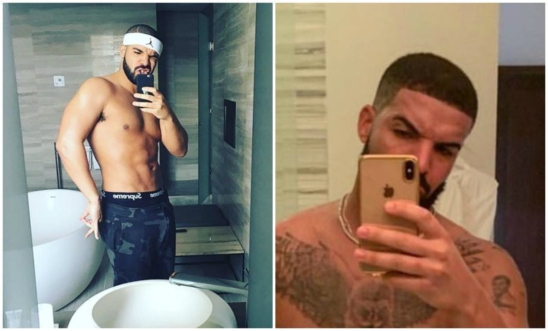Рэпер Дрейк удивил подписчиц топлесс-селфи с новыми татуировками