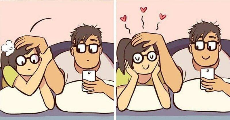 Девушка иллюстрирует свои отношения с айтишником, доказывая, что 011010 и любовь совместимы