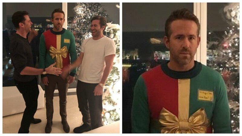 Райан Рейнольдс в уродливом свитере стал новогодним мемом